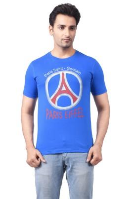 Regnum Printed Men's Round Neck Blue T-Shirt