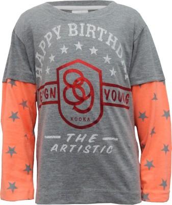 Kooka Kids Printed Boy's Round Neck T-Shirt