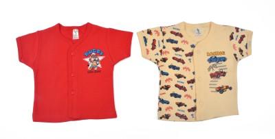 Cucumber Printed Baby Boy's Round Neck Red T-Shirt