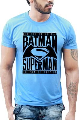 Bastard Tendencies Printed Men's Round Neck Blue T-Shirt