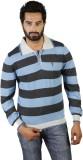 Portobello Striped Men's Polo Neck Grey ...