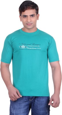 Martin Smith Printed Men's Round Neck Blue T-Shirt