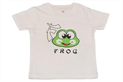TSG Breeze Printed Baby Girl's Round Neck White T-Shirt