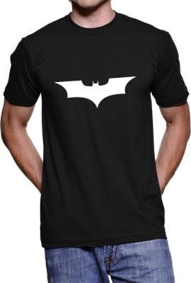 FOCECO Printed Boy,s, Men's Round Neck Black T-Shirt