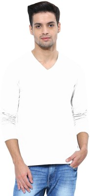 Softwear Solid Men's V-neck White T-Shirt