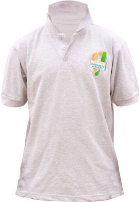 Indian Aces Solid Men's Polo Neck T-Shirt