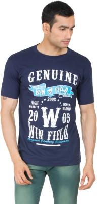 Winfield Printed Men's Round Neck Blue T-Shirt