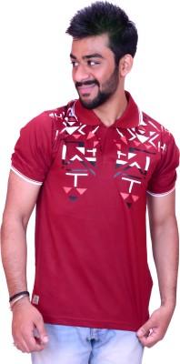 Inez Printed Men's Maroon T-Shirt