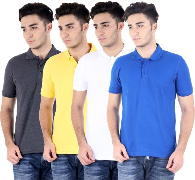Perfect 10 Solid Men's Polo Neck T-Shirt