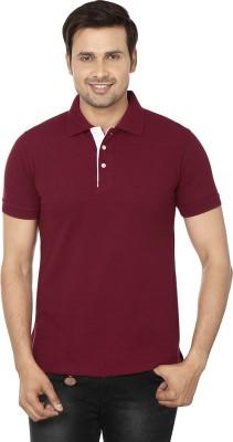EPG Solid Men's Polo Maroon T-Shirt