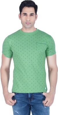 Lawman Printed Men's Round Neck Green T-Shirt