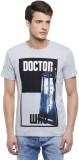 Doctor Who Printed Men's Round Neck Grey...