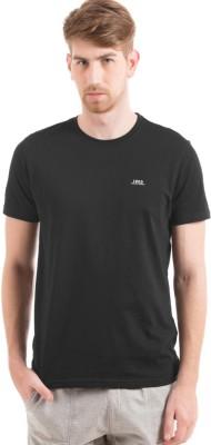 Izod Solid Men's Round Neck Black T-Shirt