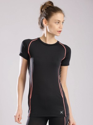 HRX by Hrithik Roshan Solid Women's Round Neck T-Shirt