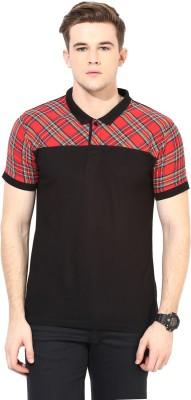 Benoit Checkered Men's Polo Red T-Shirt