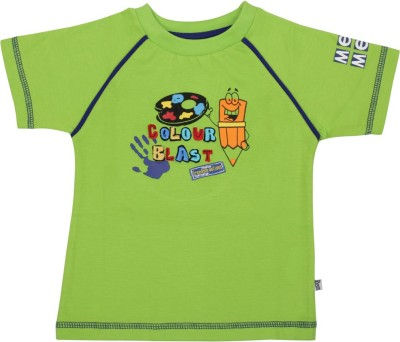 Mee Mee Solid Baby Boy's Round Neck Green T-Shirt