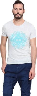 Camino Printed Men's Round Neck Grey T-Shirt