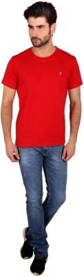Attabouy Solid Men's Round Neck Red T-Shirt