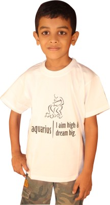 Keywords Printed Boy's Round Neck T-Shirt