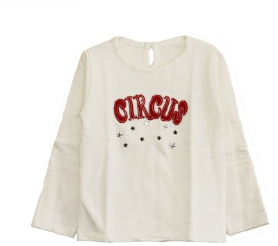 My Little Lambs Graphic Print Girl's Round Neck T-Shirt