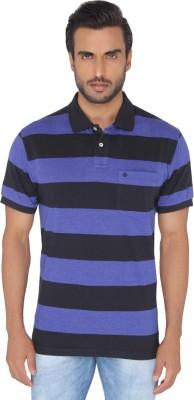 Greenfibre Striped Men's Polo Black T-Shirt