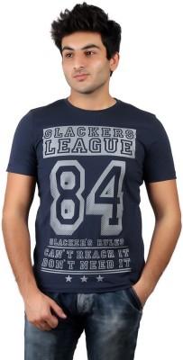 Numero Uno Graphic Print Men's Round Neck Blue T-Shirt