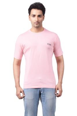Regnum Solid Men's Round Neck Pink T-Shirt