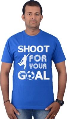 Zorba Mart Printed Men's Round Neck Blue T-Shirt