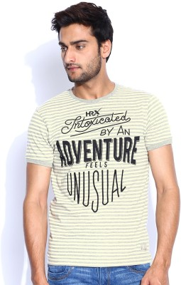 HRX Striped Men's Round Neck T-Shirt