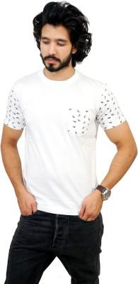 men in class Printed Men's Fashion Neck White T-Shirt