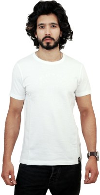men in class Self Design Men's Polo White T-Shirt