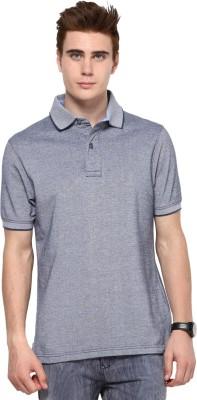 Mudo Solid Men's Mandarin Collar Grey T-Shirt