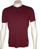 Cool Club Solid Men's Henley Maroon T-Sh...