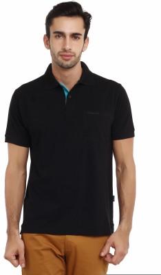 Classic Polo Solid Men's Polo Neck Black T-Shirt