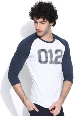 Cult Fiction Printed Men's Round Neck White T-Shirt