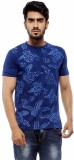 Trendy Bandey Printed Men's Henley Blue ...