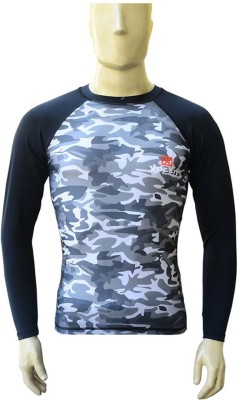 Xpeed Military Camouflage Men's Round Neck Black T-Shirt