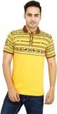 Vsquared Printed Men's Polo Neck Yellow ...