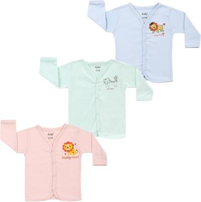 Lula Solid Baby Boy's Henley Green, Pink, Light Blue T-Shirt