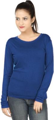 Clo Clu Solid Women,s Round Neck T-Shirt