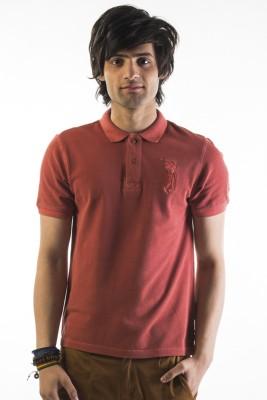 Srota Solid Men's Polo Red T-Shirt
