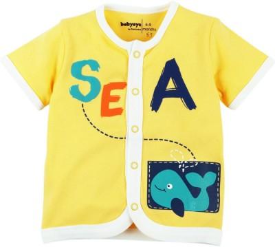 Babyoye Premium Printed Baby Boy,s Round Neck Yellow T-Shirt