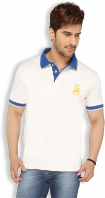 Live In Solid Men's Polo White T-Shirt