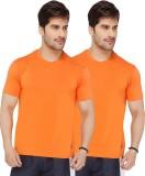 Live In Solid Men's Round Neck Orange T-...