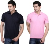 Ilbies Solid Men's Polo Neck Multicolor ...