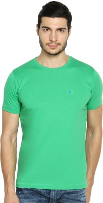 The Indian Garage Co. Solid Men's Round Neck Green T-Shirt