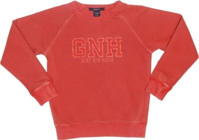 Gant Solid Men's Round Neck Red T-Shirt