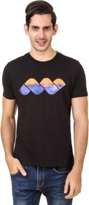 Spunk Solid Men's Round Neck Black T-Shirt