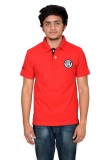 Being Muslim Solid Men's Polo Neck Red T...