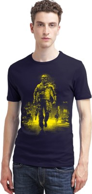 Carte Blanche Printed Men's Round Neck T-Shirt